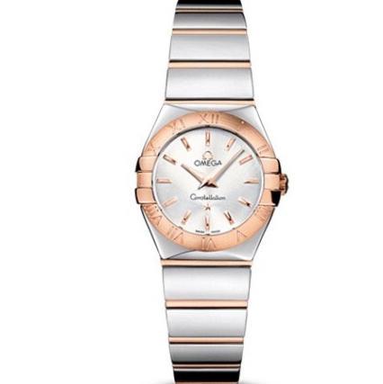 V6欧米茄星座系列女士石英手表  27毫米 一比一复刻正品玫瑰金条丁刻度