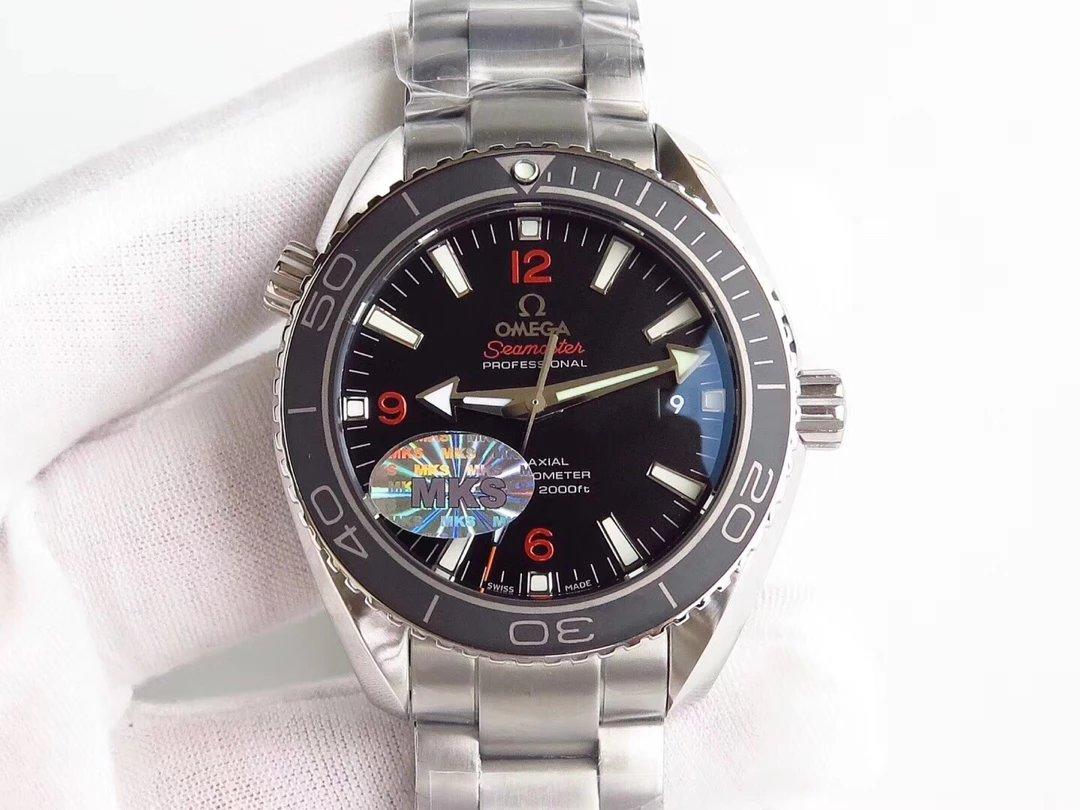MKS新品 欧米茄海洋宇宙600米42mm系列腕表 自动机械机芯 精钢表带 男士
