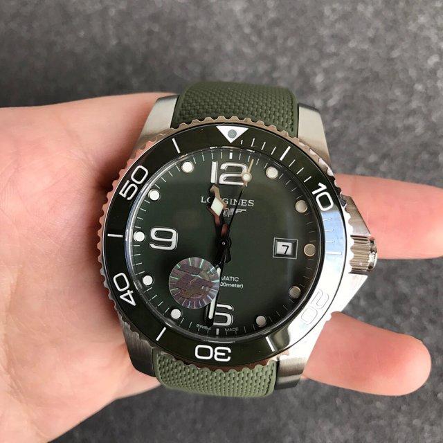 ZF厂复刻浪琴康卡斯水中霸主男士机械手表 绿盘