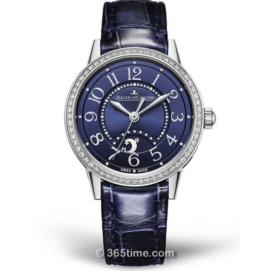 ZF复刻积家约会系列3448480镶钻蓝盘女士自动机械皮带手表