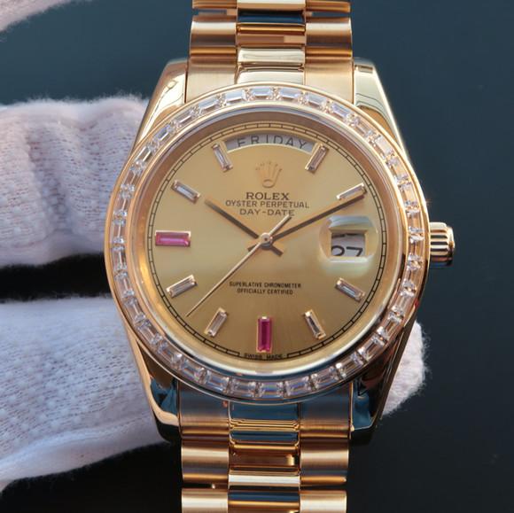 劳力士日志星期日历型218399机械男士手表。