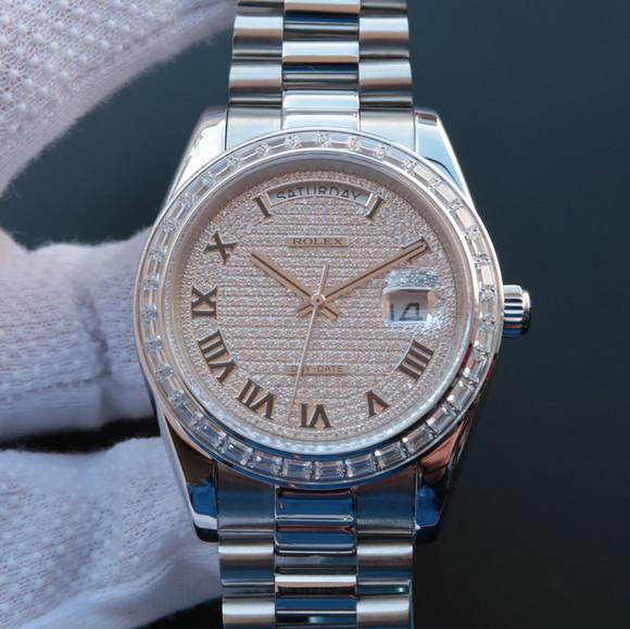 劳力士日志星期日历型218399满天星机械男士手表
