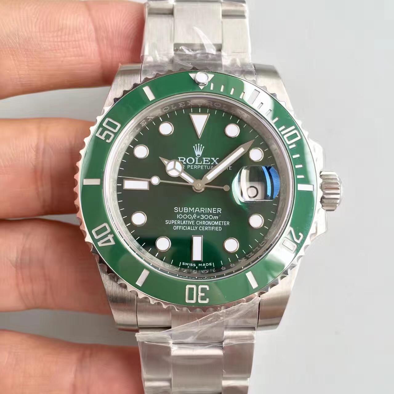 n厂劳力士绿水鬼v7版SUB潜航者系列116610LV,男士手表。v7已停产,可购买v8升级版