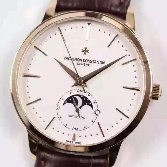 江诗丹顿传承81180超薄月相系列机械手表