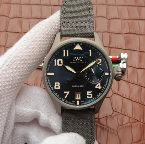 万国IW500909大飞钛陶瓷限量版机械男表 3点钟位置真动能显示器