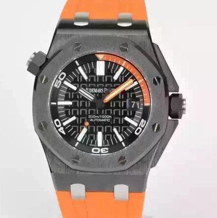 jf厂复刻爱彼15707原装锻造碳纤维+钛合金!橙色款