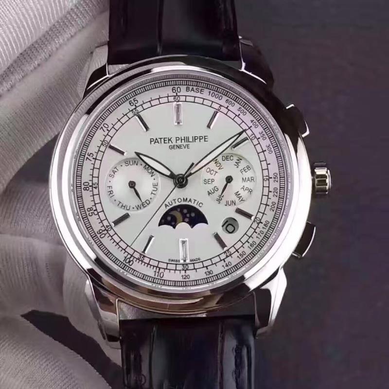 精高仿百达翡丽新款日月星辰多功能男士机械手表