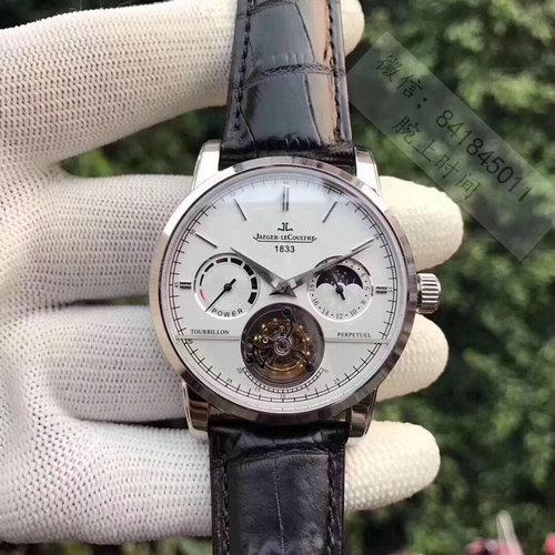 精仿积家大师系列日月星辰陀飞轮机芯手表 白面