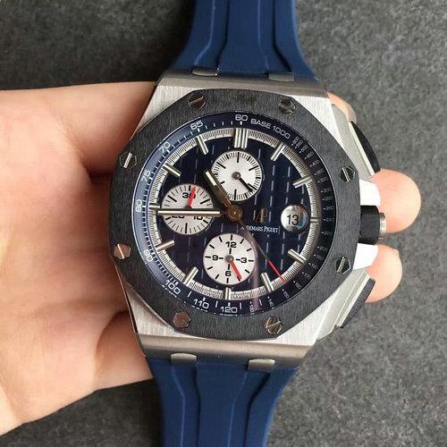 N厂爱彼皇家橡树离岸型348蓝面全自动机械计时手表 精品