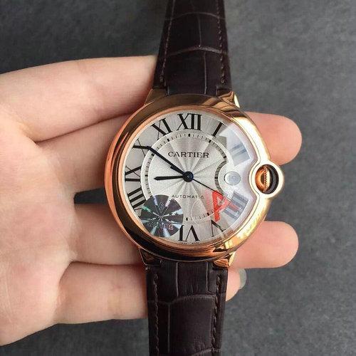 v6厂复刻卡地亚蓝气球玫瑰金男士机械手表