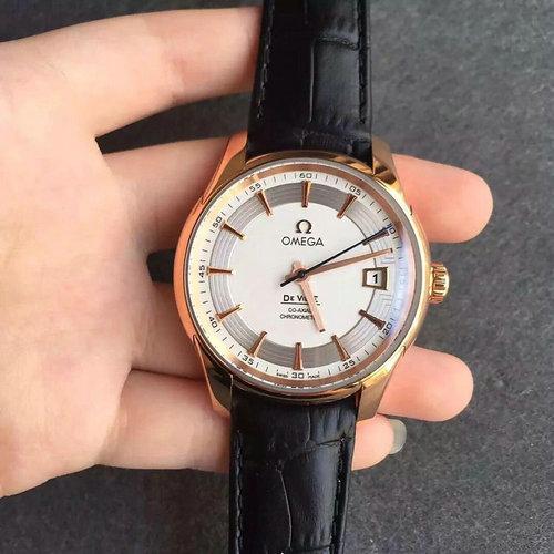 v6厂欧米茄蝶飞系列玫瑰金 男士机械手表