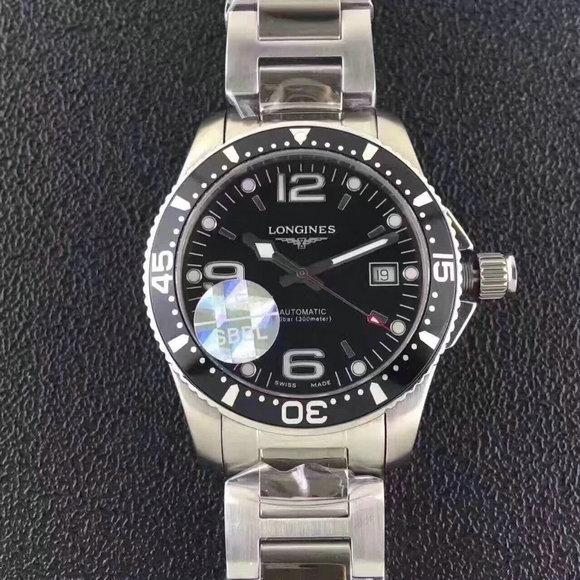 浪琴康卡斯潜水系列男士全自动机械手表 新款