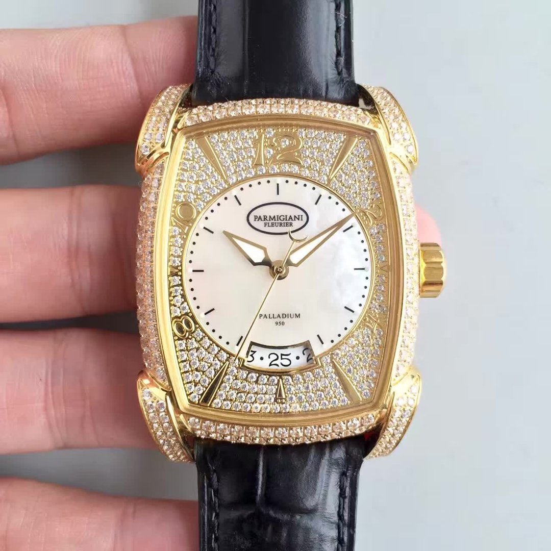 帕玛强尼满天星男士机械手表 金色款 新款
