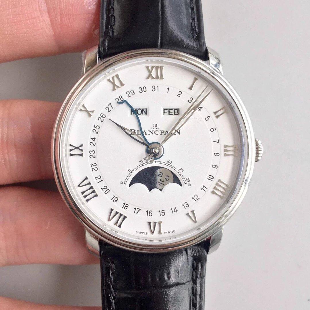 om厂宝珀villeret经典系列6654月相显示 市面最高版本腕表一致