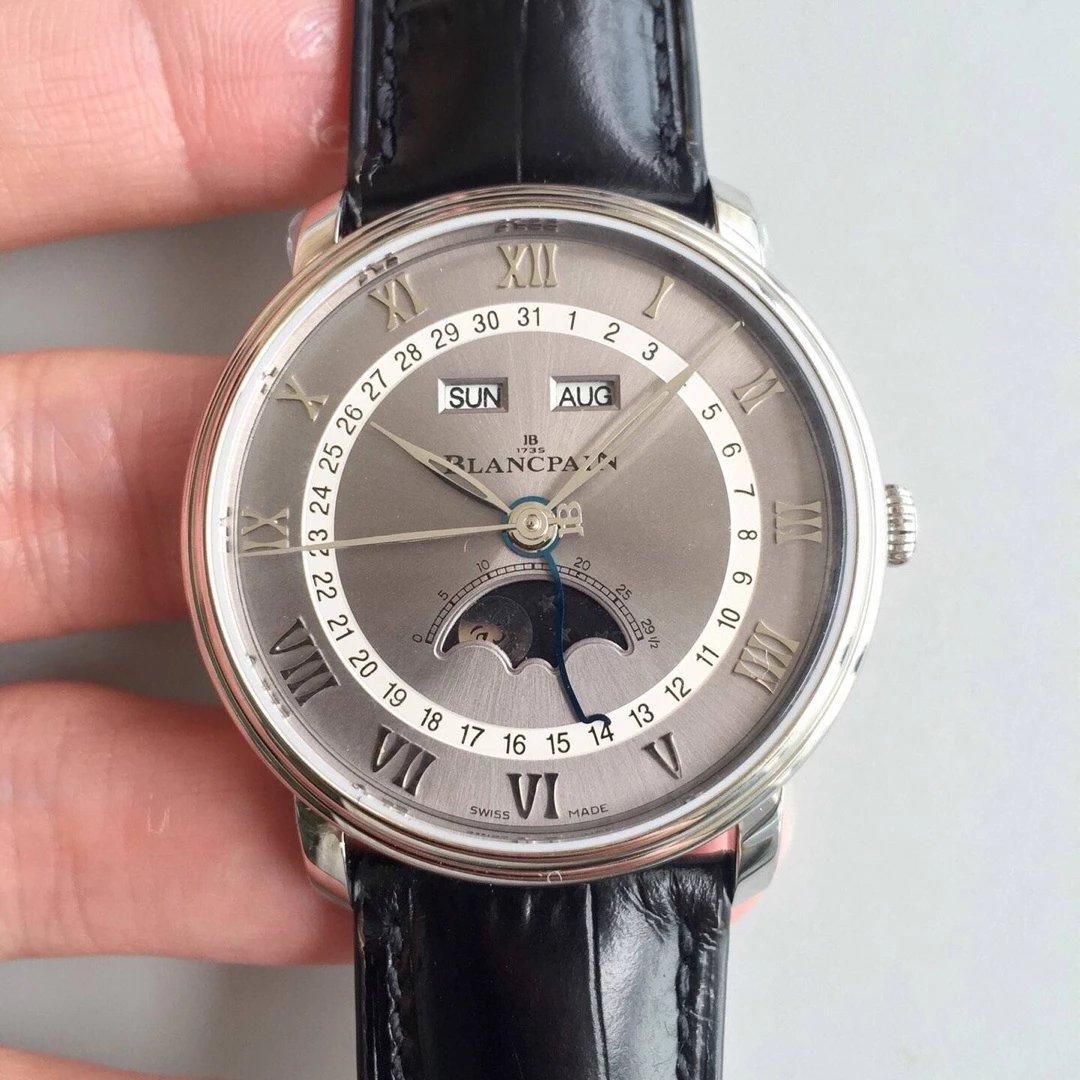 om新品宝珀villeret经典系列6654月相显示 市面最高版本腕表