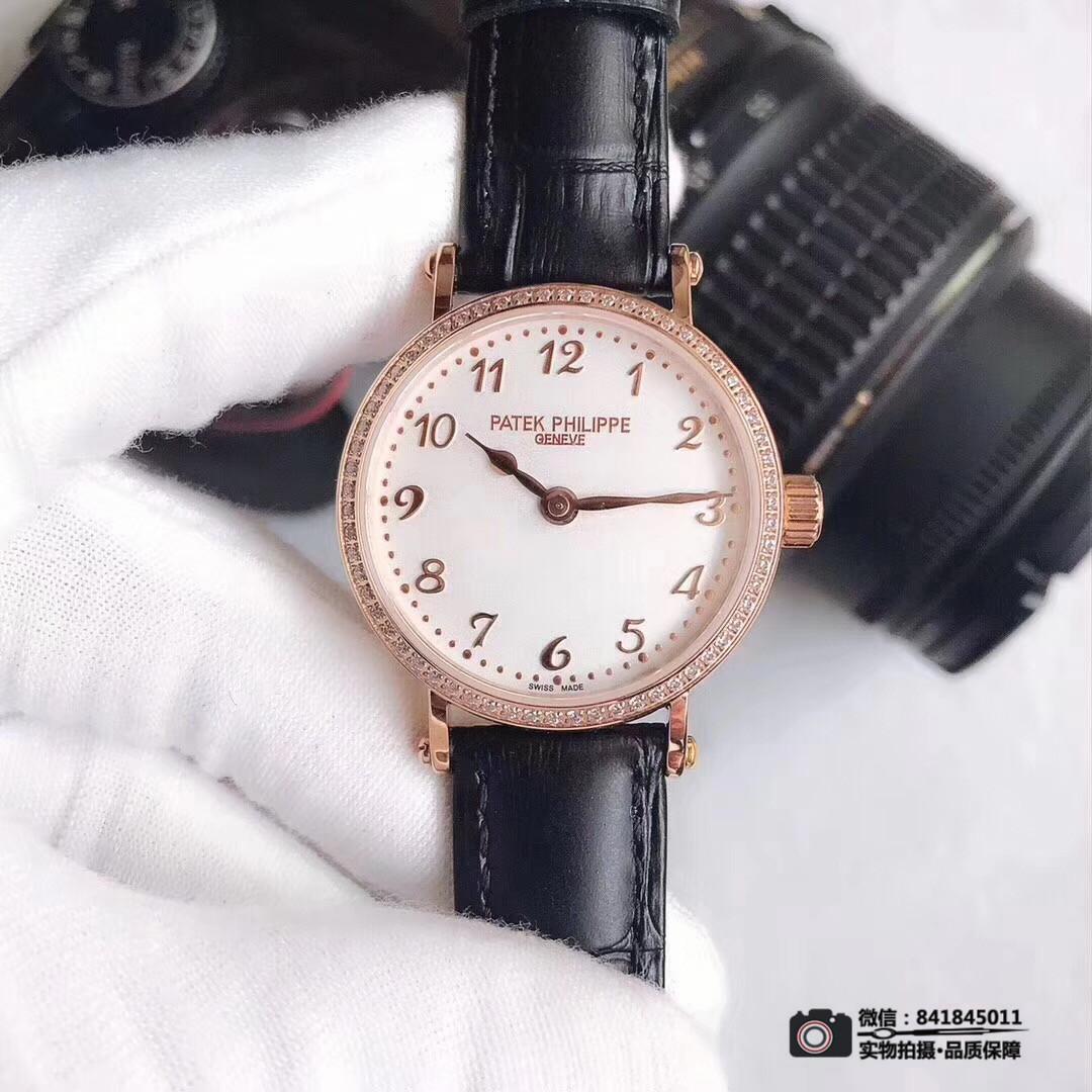 百达翡丽女士机械手表 优雅高贵淑女型 简单风格