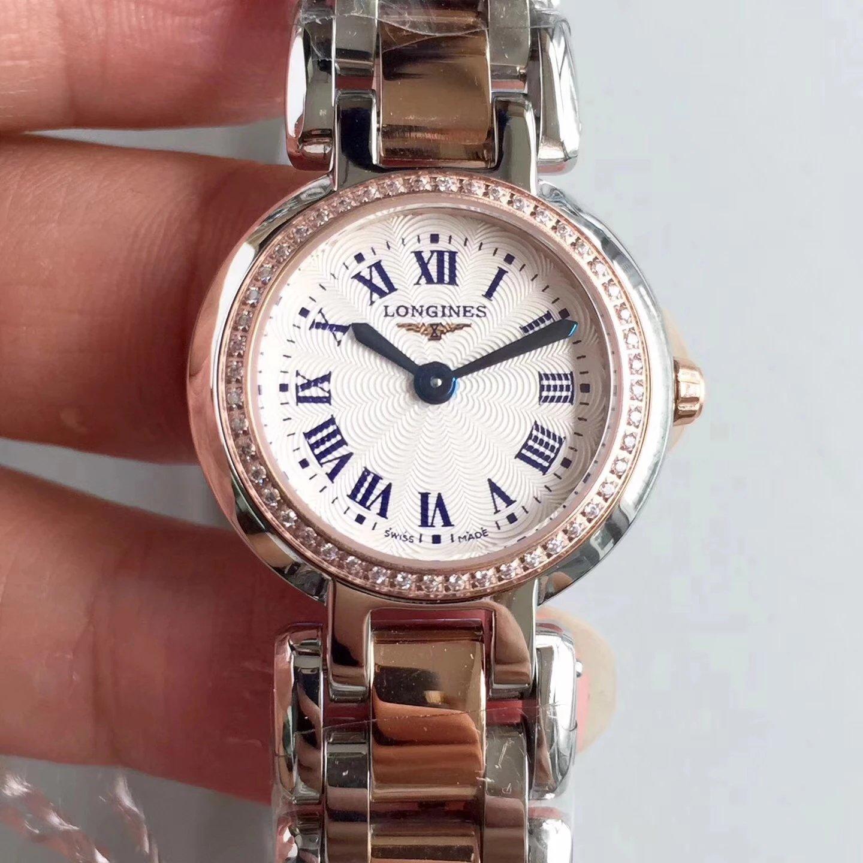 KZ工厂最强复刻浪琴心月系列石英女士手表 镶钻