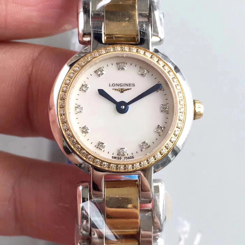 KZ工厂最强复刻浪琴心月系列女士石英18k金手表