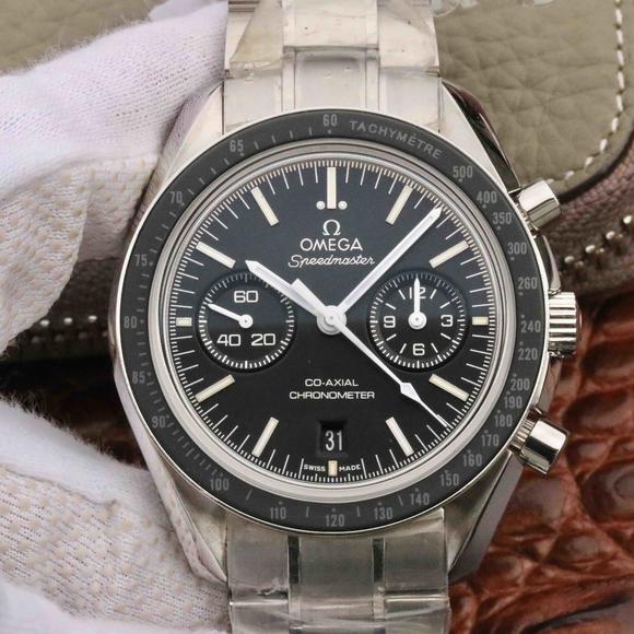 OM厂复刻欧米茄超霸同轴计时表钢带男士机械手表 一比一顶级复刻表
