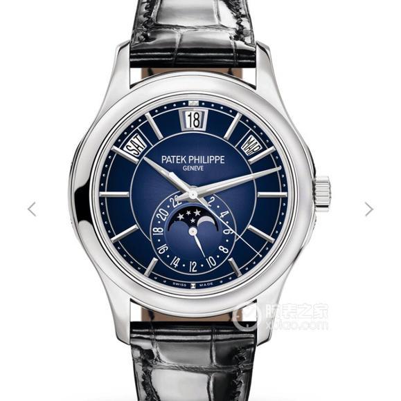 KM厂百达翡丽复杂功能计时5205G-013男士机械手表 蓝面款今年面市啦
