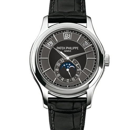 KM厂百达翡丽复杂功能计时5205G-010男士机械手表  经过改版后功能和正品一致