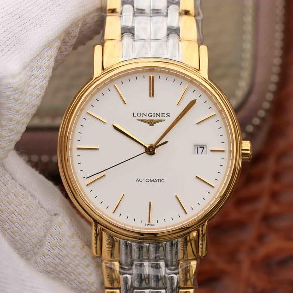 TW厂浪琴瑰丽系列历时最长的浪琴复刻一款手表 间金表带男士 闯专柜无压力