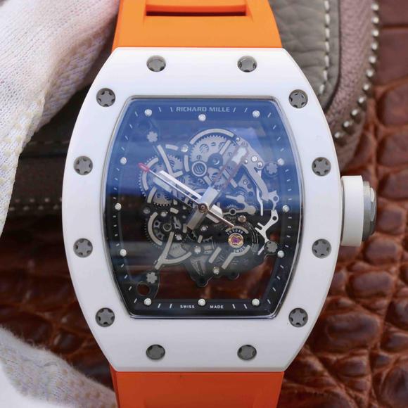 KV理查德米勒RM055陶瓷腕表 经典酒桶造型表身 男士机械表