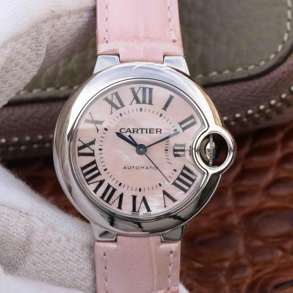 V6厂卡地亚蓝气球33mm机械女士手表 一比一复刻手表