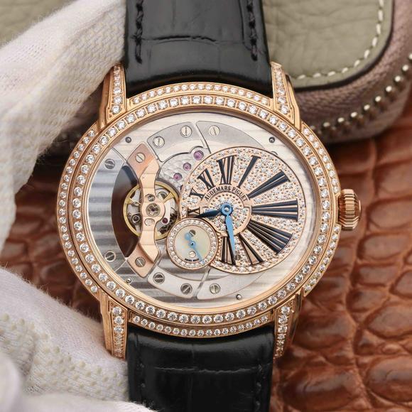 V9厂爱彼千禧系列15350款男士玫瑰金镶钻版机械手表