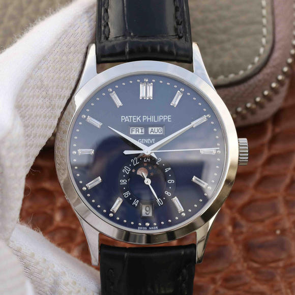 KM厂百达翡丽5396系列复杂功能计时男士机械手表 全新v2升级版
