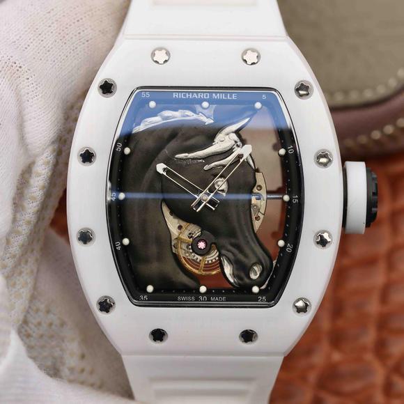 理查德米勒马到功成RM52-02胶带陶瓷男士自动机械手表