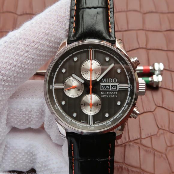 MC美度舵手系列M005.614.16.031.00男士机械手表 (灰色盘)7750计时机芯