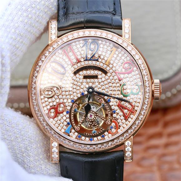 TWL法兰克穆勒满天星真陀飞轮 皮表带 自动机械男士腕表