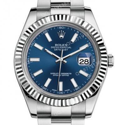 劳力士日志型系列116334-72210蓝盘腕表 41男士全自动机械男表 蓝面 n厂新款