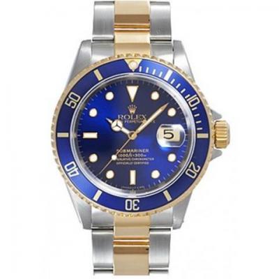 GM劳力士间金水鬼116613LB-97203男士机械手表 蓝面款 顶级版本