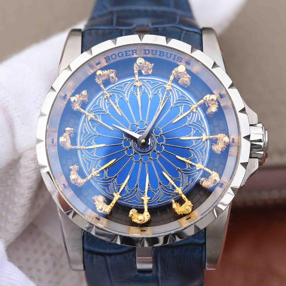 罗杰杜彼王者系列(Excalibur)圆桌12骑士 蓝面款 男士腕表