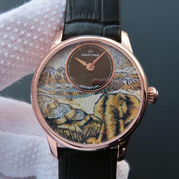 TW雅克德罗【女神】腕表  表里如一 独具匠心!烧钢蓝指针 女士腕表 玫瑰金