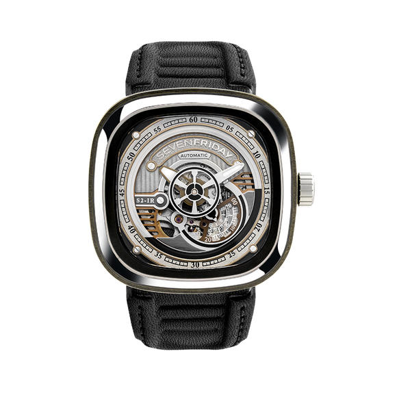 XF七个星期五 Sevenfriday-S2/01男士机械皮带密底手表