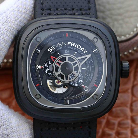 SV七个星期五sevenfriday黑色男士机械手表