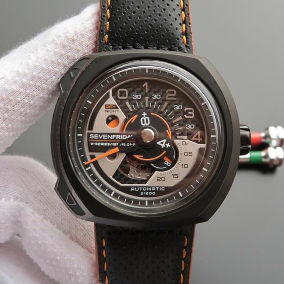 XF厂SEVENFRIDAY 七个星期五新款自动机械男士牛皮不透底手表