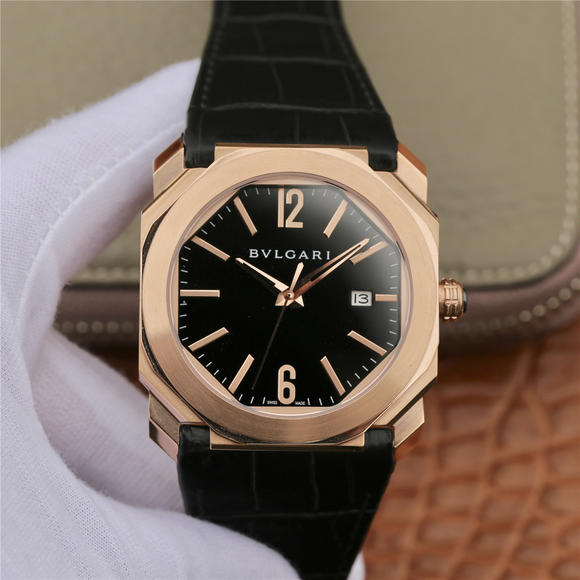 JL宝格丽OCTO系列腕表男士皮带机械手表