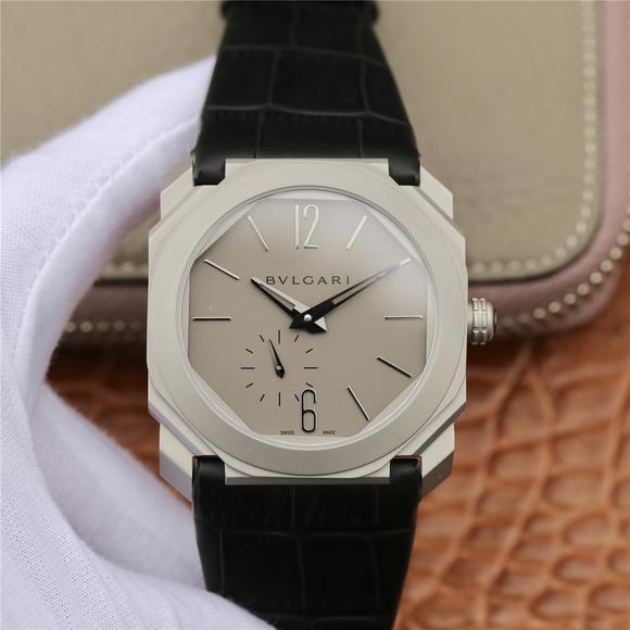 JL宝格丽OCTO系列腕表独立小秒男士机械手表 灰盘