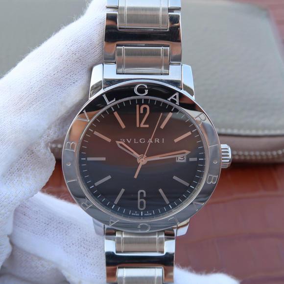 TW宝格丽BVLGARI BVLGARI SOLOTEMPO系列102056中性黑色盘腕表