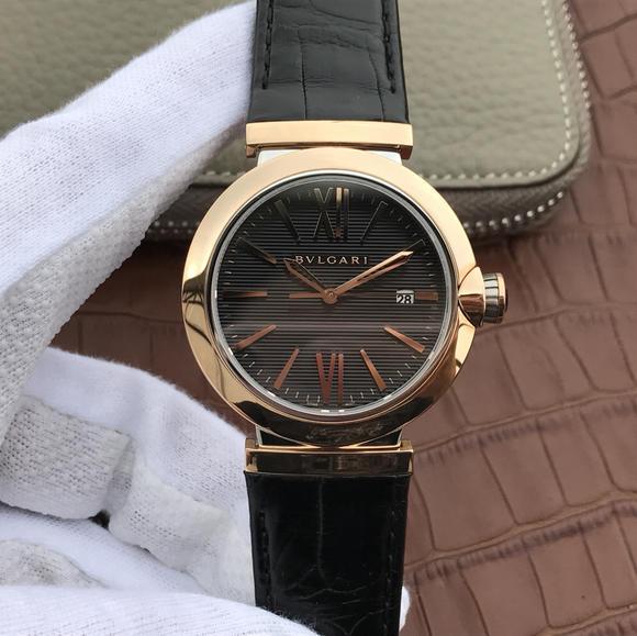 宝格丽创意珠宝系列102571 LU40C6SSPGLD中性男女可戴的机械皮带手表