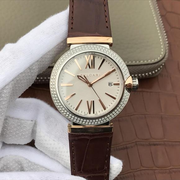 宝格丽创意珠宝系列102571 LU40C6SSPGLD中性男女可带 镶钻版