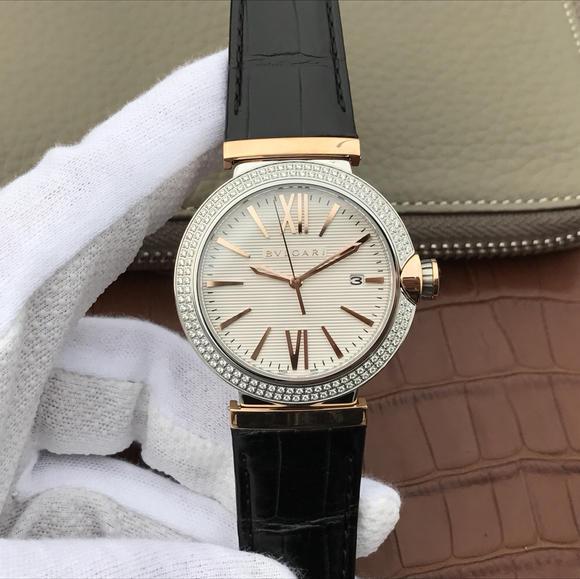 宝格丽创意珠宝系列102571 LU40C6SSPGLD中性男女可戴镶钻版手表