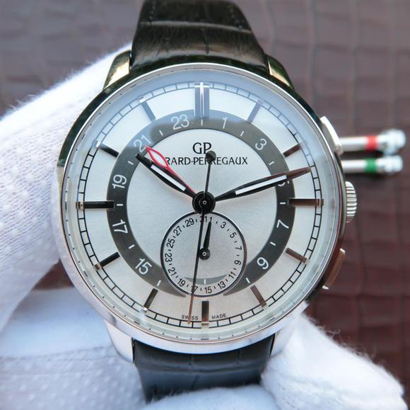 芝柏Girard-Perregaux 1966系列49544-52-131-BBB0男士机械手表 白