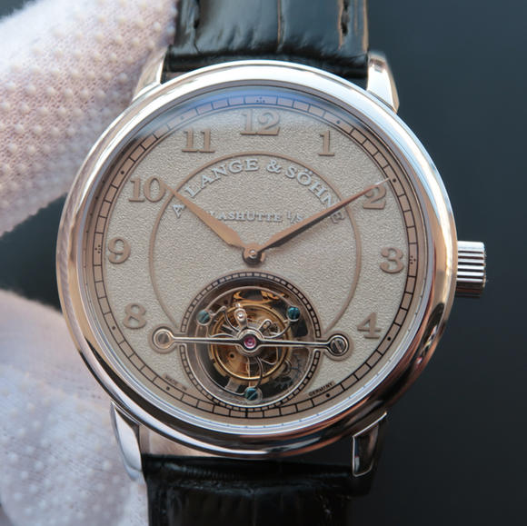 LH朗格1815系列730.32喷砂限量版手动陀飞轮机芯男士手表