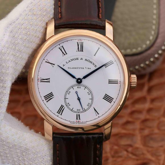 MKS朗格经典1815系列独立小秒盘男士机械手表玫瑰金顶级复刻表之一