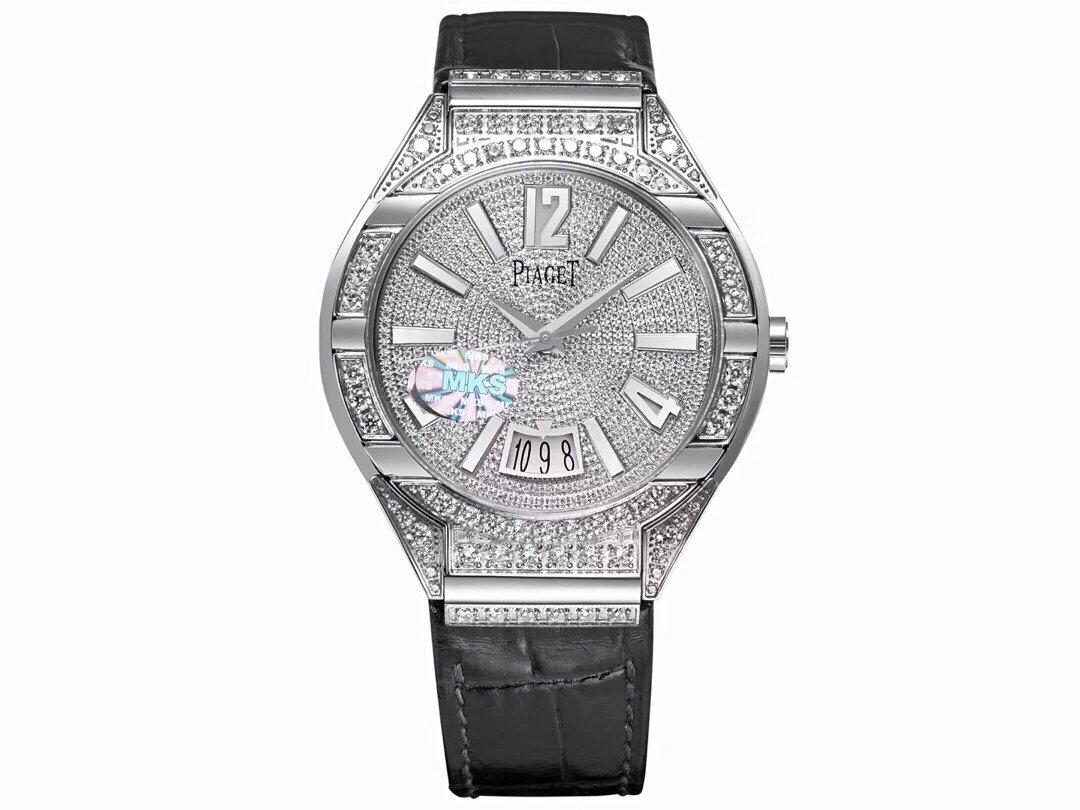MKS新品【超凡工艺 邂逅珠宝灵感】MK挑战奢华极限---伯.爵POLO系列满天星 男士机械手表